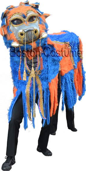 Orange and Blue Chinese Dragon Costume