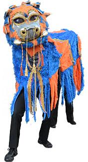 Orange and Blue Chinese Dragon Costume