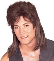Rubies Brown Mullet Wig