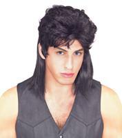 Mullet Wig in Black by Rubies