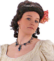 Sapphire Rhinestone Necklace