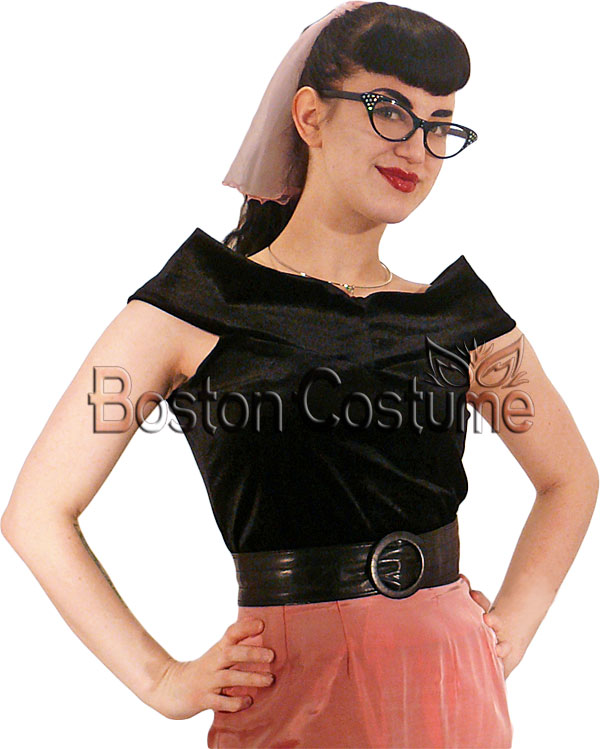 4d8db2c0884 Cat Eye Glasses in Black with Clear Frames at Boston Costume