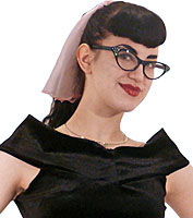 Cat Eye Glasses with Black Frames
