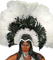 Black & White Showgirl Headpiece
