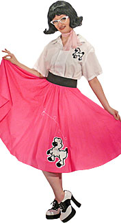 1950's Poodle Skirt Girl Costume