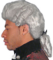 Discount Colonial Man Wig in Platinum