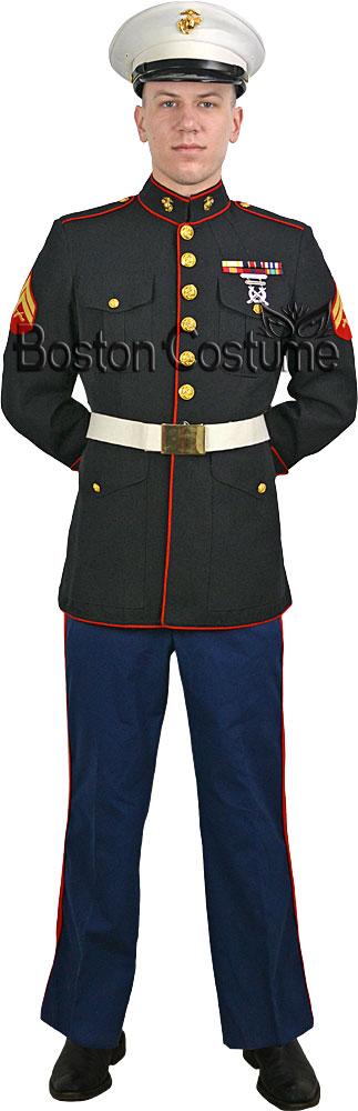 Marine dress blues costume