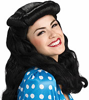 40's Glam Wig in Black