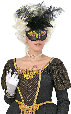 Midnight Mask in Black & Gold