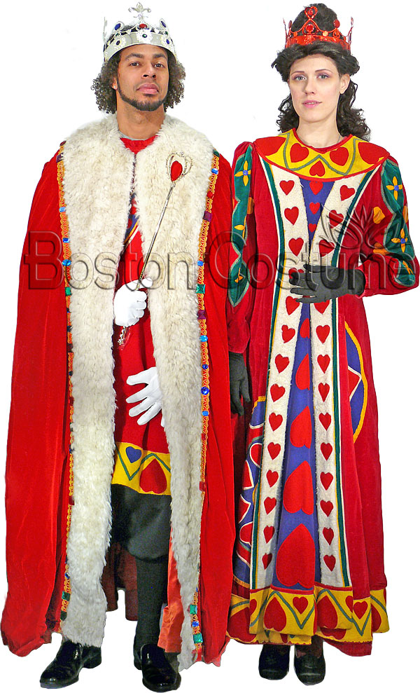 King And Queen Of Hearts Halloween Costumes