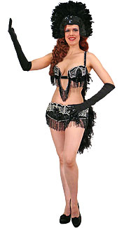 Black and Silver Showgirl Costume