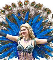 Peacock Showgirl Backpiece