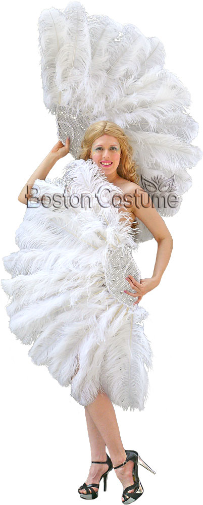 Burlesque Feather Fan Rental At Boston Costume