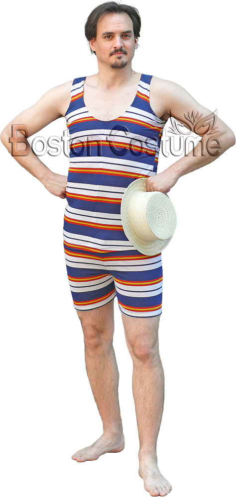 Old Fashioned Striped Swimsuit