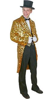 Gold Sequin Tuxedo Jacket
