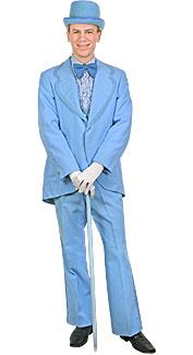 Deluxe Powder Blue Tuxedo Costume at Boston Costume
