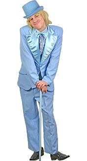 Movies tv costumes at boston costume for Powder blue tuxedo shirt