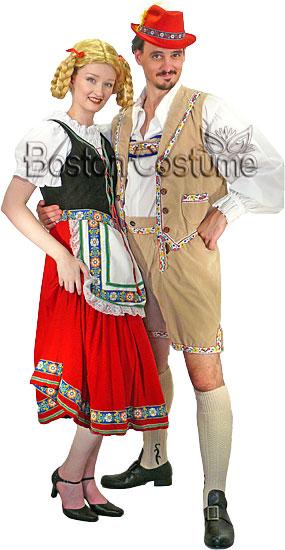 Bavarian Couple Costumes