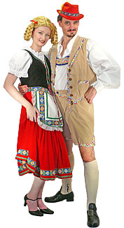 Bavarian Couple Costumes