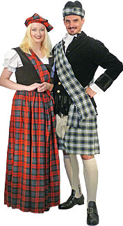 Scottish Couple Costumes